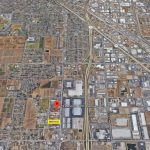 Aerial map of 2916 S. Elm Ave., Fresno. Ag land, industrial properties and residential properties. 2916 S. Elm Ave., Fresno near Freeway 41, south of where Freeways 41 and 99 intersect.