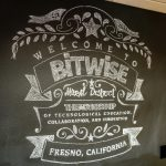 2210 San Joaquin St., Fresno. Interior. Welcome to Bitwise Mural District mural.